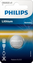 Philips Lithium CR2025 blister 1