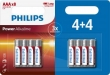 Philips Power Alkaline AAA/LR03 blister 4+4