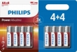 Philips Power Alkaline AA/LR6 blister 4+4