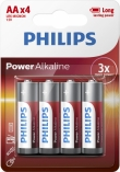 Philips Power Alkaline AA/LR6 blister 4