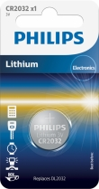Philips Lithium CR2032 blister 1